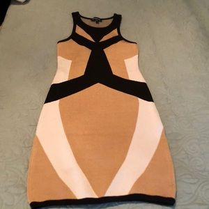 Bebe colorblock fitted tank dress